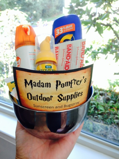 Madam Pomfrey's first aid and outdoor supplies