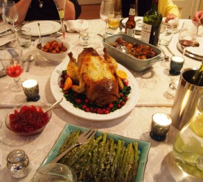 The table with the bird!