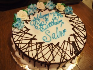 Happy 75th Salvo! :) This cake rocked!