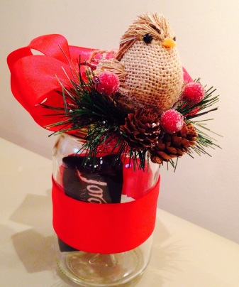 Mason Jar Gift Certificate/Card holderside view