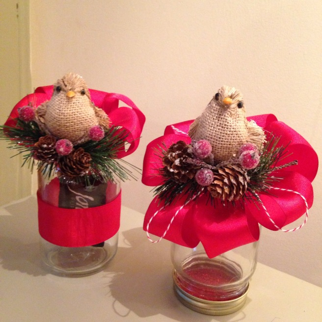 I made two jars today. One using the lid as the topper and one using the lid as a base.
