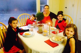 sister table with kids