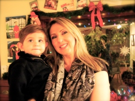 My sister and son