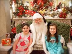 Seeing Santa before it was too late!