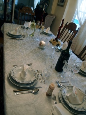 My moms tablesettings