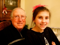 My dad and his oldest granddaughter!