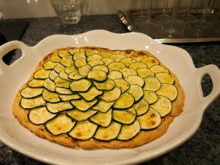zucchini tarte after