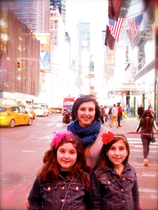 The girls looooved Times Square... and the M&M store.. the lighting is NOT flattering.. lol