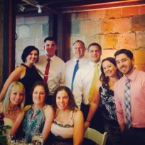 Most of us have been friends since 1996. Cheers to almost 20 yrs of friendship! I love this group (PLUS THE GROOM AND BRIDE!)