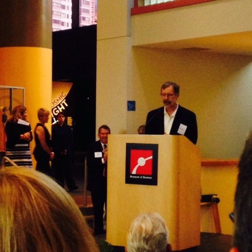 Grand Opening to Pixar and MOS team.. Speech by Ed Catmull, president of Pixar Animation Studios and Walt Disney Animation Studios....I got to meet him. So nice!
