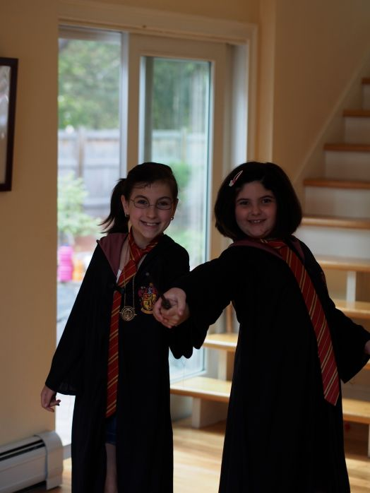 The girls never tire of dressing up.. ever