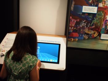 Our kids tested out a lot of this before, but man how awesome to see them working on all the exhibits live