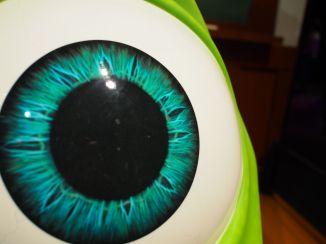 You have a shmear on your eye..ahem