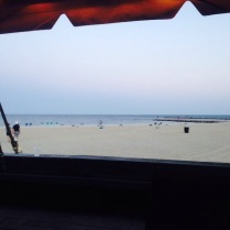 We had an insanely beautiful view of the beach at sunset...