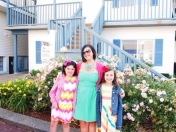 the girls and I ready for dinner!