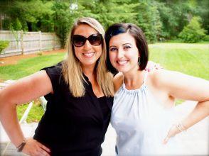 My sister and I.. uhm I had flipflops on, she had wedge sandals.. so I felt short. lol