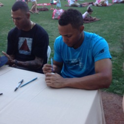 Alexi Ogando and Bogaerts