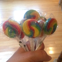 Bought lollipops from Oriental Trading