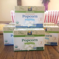 Because conventional micro pop corn freaks me out, I opted for WF's 365 brand organic pop corn to insert into the boxes