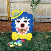Petunia the Clown inspired bean bag toss. Super fun!