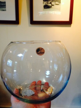 "Bought an 8"" glass bubble vase from save-on-crafts"