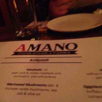 So 62 on the Wharf, turned into A Mano..same owners, location and well, menu!