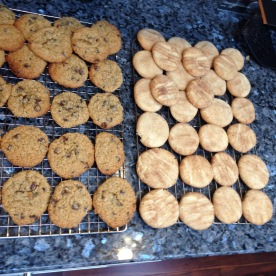 Xmas Eve: Made snickerdoodles and oatmeal choc chips