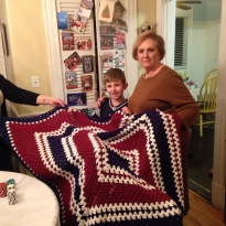 Oh, and my mom is too..she made this for my nephew..she has a sweet Patriots patch for this.