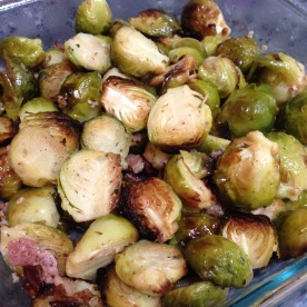 I made a great roast, brussels and cooies