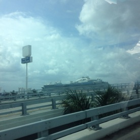 View of ship from traffic