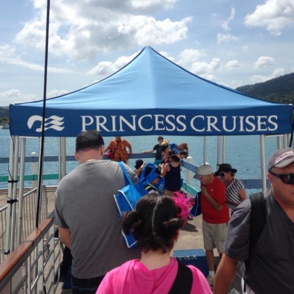 Disembarking the boat