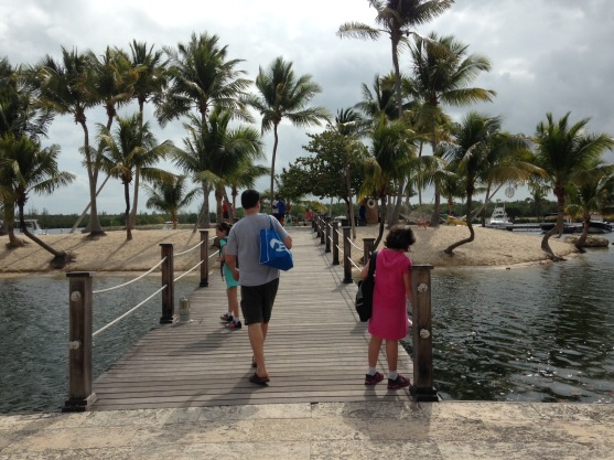 Walking to the dock