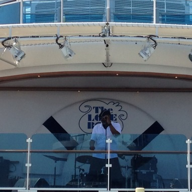 Live music on the second deck every day.