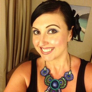 I decided to wear my hair up..for most of the cruise really. so much easier!