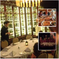 Our private table and the photo from lunch above