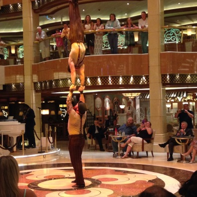 The amazing acrobats on the Regal princess..and holy gorgeous too. yowza when they took their shirts off.