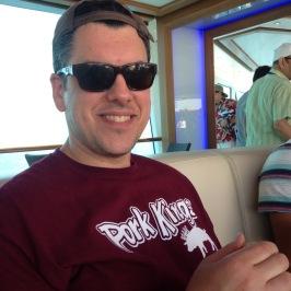 My husband's softball shirt... oye