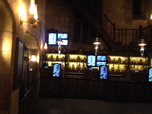 The set up at the Leaky Cauldron ordering stations.