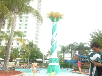 What my friend was facing in the other photo was the pool area. This one was the large pool with graduating entrance.