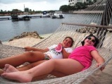 The dock was set up with hammocks and lovely trees. it was bliss.