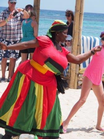 We arrived to the resort to find this Jamaican (stuffed) woman teaching the kids some traditional dances..she was a gorgeous sight in her outfit.