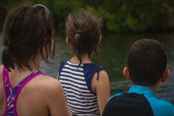 Their eyes were peeled the whole boat ride back!