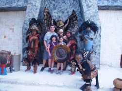 "With the dressed up ""Mayans"""