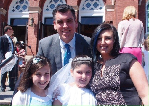 The only post communion shot we took as a family!