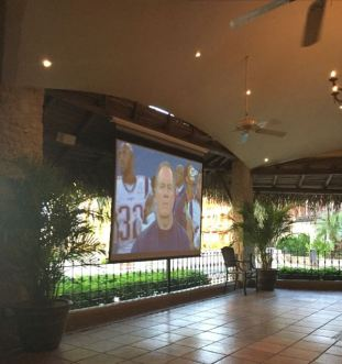 SUPERBOWL SUNDAY! This was a fun night in the main restaurant. There were probably 100 people watching the game.