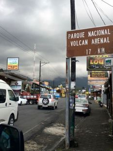 Then we arrived in La Fortuna
