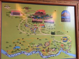 The map of the grounds. We were in the toucan house room 103