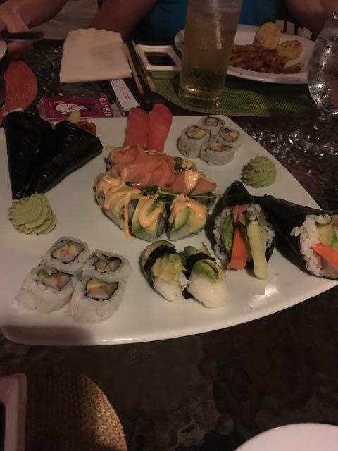 Their sushi was pretty insane