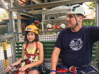 Now this was scary to me. My 11yr old wanted to zip line so badly..so here we go.