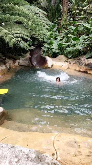 Playing in the monkey pool